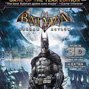 Batman: Arkham Asylum: Game of the Year Edition-Microsoft Xbox 360