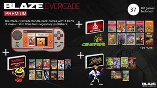 Blaze Evercade Premium + 3 Cartuchos-Retro