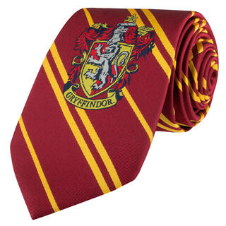 Corbata Gryffindor Harry Potter Logo Tejido-