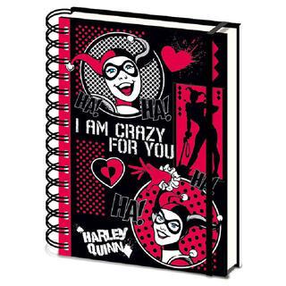 Cuaderno A5 Crazy for You Harley Quinn Dc Comics-