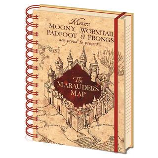 Cuaderno A5 Mapa Merodeador Harry Potter-