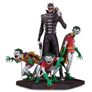 Estatua Resina Batman Who Laughs & Robin Minions Dark Nights Metal Deluxe 21cm-