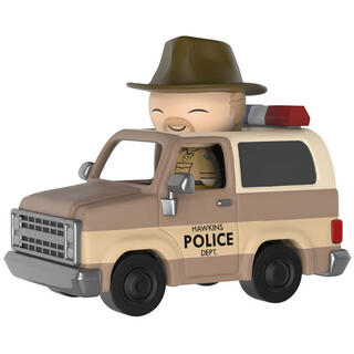 Figura Dorbz Ridez Stranger Things Hopper and Sheriff Deputy Truck-