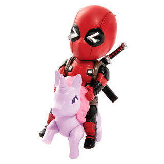 Figura Mini Egg Attack Deadpool Unicornio Marvel-