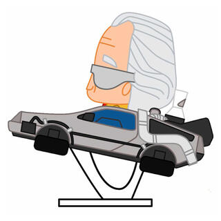 Figura Pokis Doc con Delorean Regreso Al Futuro-