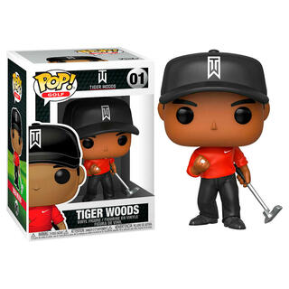 Figura Pop Golf Tiger Woods Red Shirt-