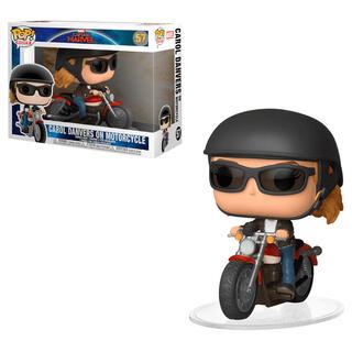 Figura Pop Marvel Capitana Marvel Carol Danvers On Motorcycle-
