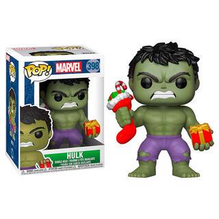 Figura Pop Marvel Holiday Hulk With Stocking & Plush-