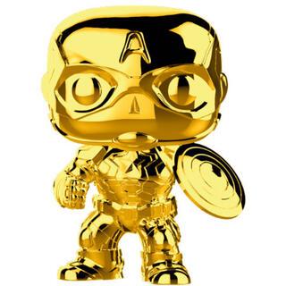 Figura Pop Marvel Studios 10 Capitan America Gold Chrome-