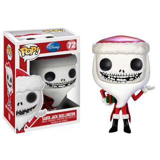 Figura Pop Nbx Pesadilla Antes de Navidad Santa Jack Skellington-
