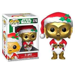 Figura Pop Star Wars Holiday C-3po As Santa-