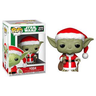 Figura Pop Star Wars Holiday Santa Yoda-