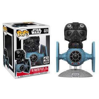 Figura Pop Star Wars Tie Fighter With Tie Pilot 15cm Exclusive-