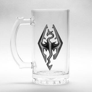 Jarra Cristal Dragon Symbol Skyrim-