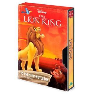 Libreta A5 Premium Vhs el Rey Leon Disney-