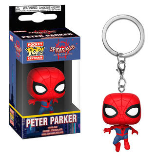 Llavero Pocket Pop Marvel Animated Spiderman Peter Parker-