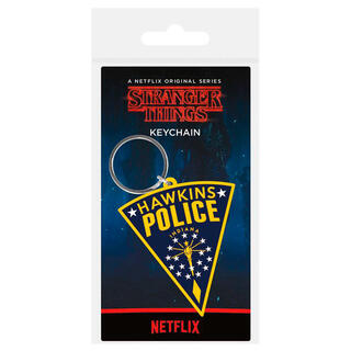 Llavero Rubber Hawkins Police Stranger Things-