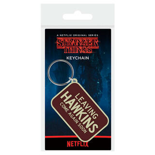 Llavero Rubber Leaving Hawkins Stranger Things-