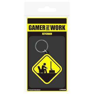 Llavero Rubber Peligro Gamer At Work Gaming-