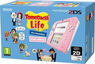 Nintendo 2DS Rosa y Blanco + Tomodachi Life (Pre-Instalado)-Nintendo 3DS