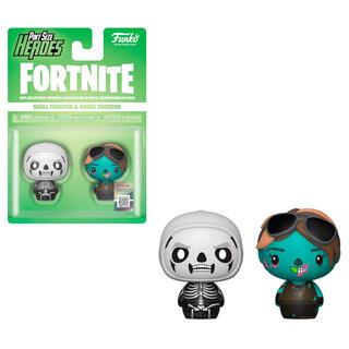 Pack 2 Figuras Pint Size Fortnite Skull Trooper & Ghoul Trooper-
