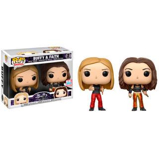 Set 2 Figuras Pop Buffy The Vampire Slayer 25th Buffy & Faith 2017 Fall Convention Exclusive-