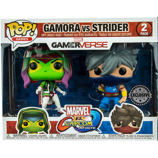 Set 2 Figuras Pop Capcom Vs Marvel Gamora Vs Strider Exclusive-
