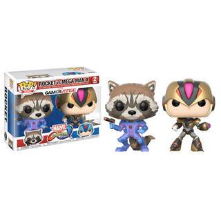 Set 2 Figuras Pop Capcom Vs Marvel Rocket Vs Megaman X Exclusive-
