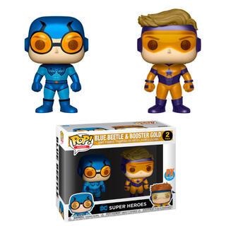 Set 2 Figuras Pop Dc Blue Beetle & Booster Gold Metallic Exclusive-