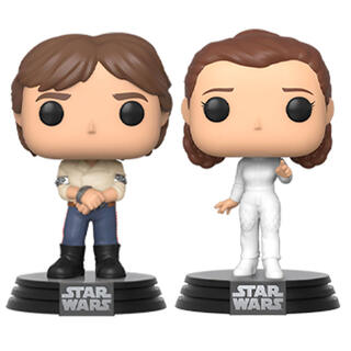 Set 2 Figuras Pop Star Wars Han & Leia-