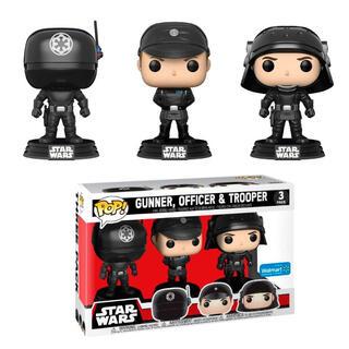 Set 3 Figuras Pop Star Wars Gunner Officer & Trooper Exclusive-