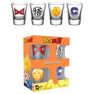 Set 4 Vasos Chupito Dragon Ball Z-