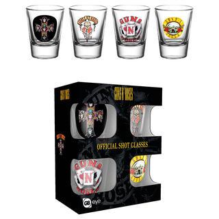 Set 4 Vasos Chupito Guns N Roses-