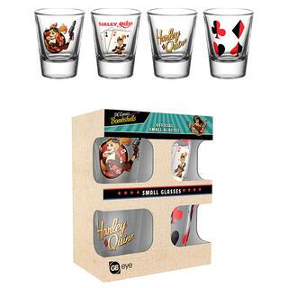 Set 4 Vasos Chupito Harley Quinn Bombshell Dc Comics-