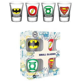 Set 4 Vasos Chupito Logos Dc Comics-