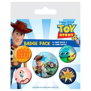 Set 5 Chapas Toy Story 4 Disney Pixar-