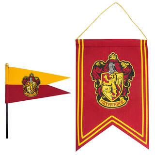Set Bandera y Banderin Gryffindor Harry Potter-