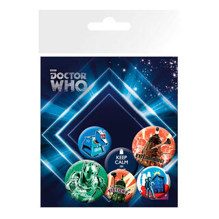 Set Chapas Retro Doctor Who-