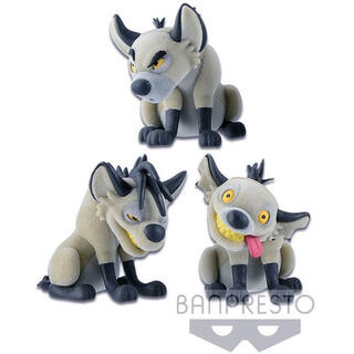 Set Figuras Banzai Shenzi & Ed el Rey Leon Disney Fluffy Q Posket-