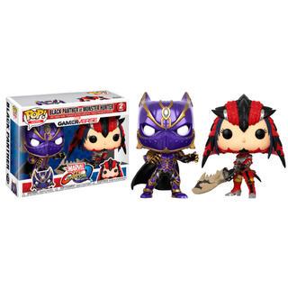 Set Figuras Pop Black Panther Vs Monster Hunter-