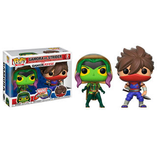 Set Figuras Pop Marvel Gamora Vs Strider-