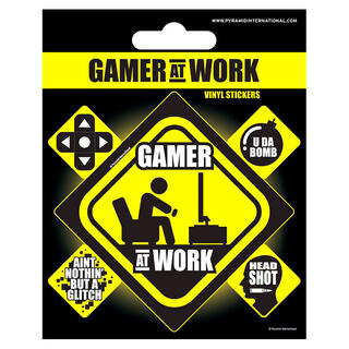 Set Vinilos Gamer At Work Gaming-