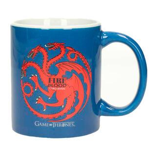 Taza Ceramica Targaryen Juego de Tronos Azul-