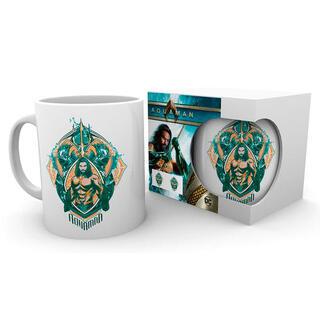 Taza Crest Aquaman Dc Comics-