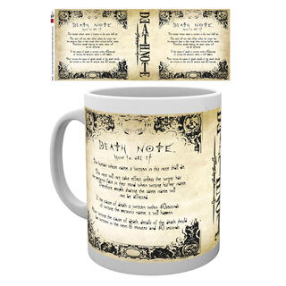 Taza Death Note Rules-