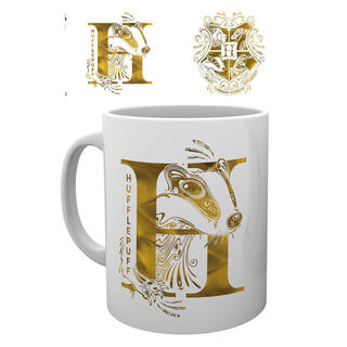 Taza Harry Potter Hufflepuff Monogram-