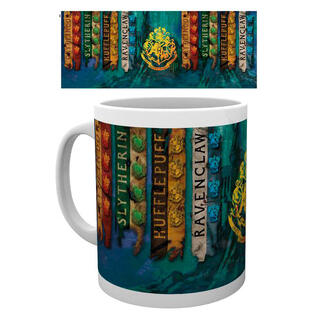 Taza House Flags Harry Potter-