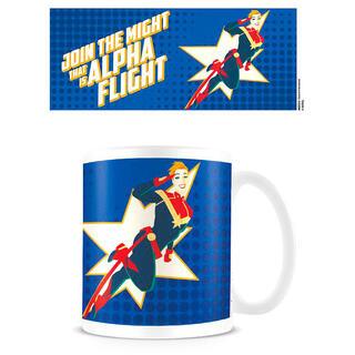 Taza Join The Alpha Flight Capitana Marvel-