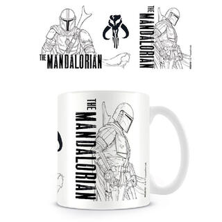 Taza Line Art The Mandalorian Star Wars-