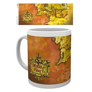 Taza Lord of The Rings Map-